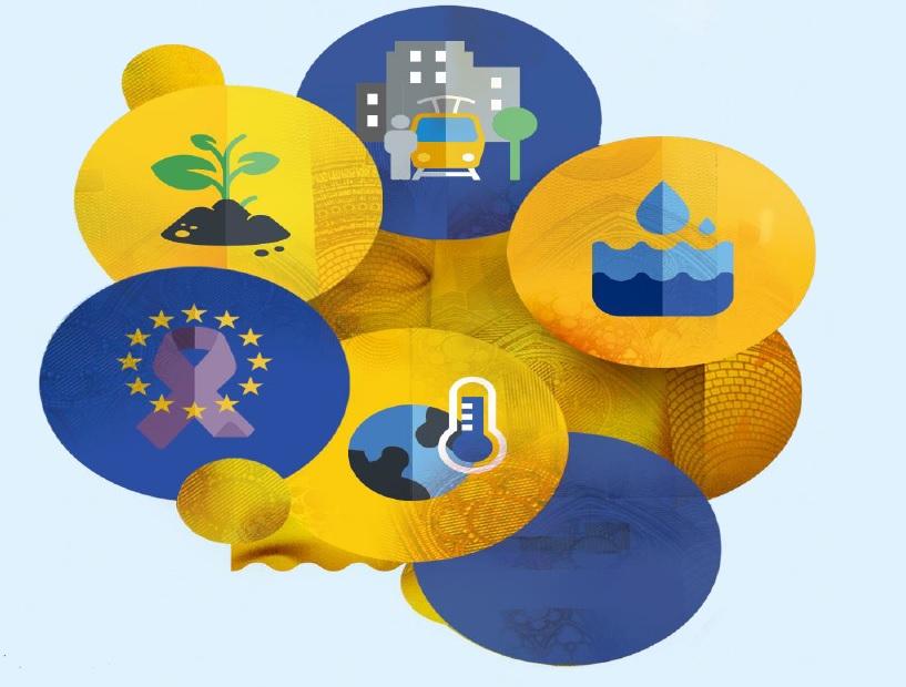 Die Missionen der EU-Kommission sind grafisch in gelben und blauen Sprachblasen dargestellt.